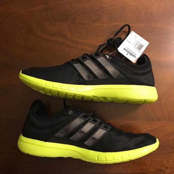 NWT adidas climacool leap. Black/neon yellow 9.5